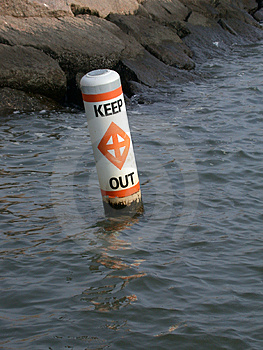 O perigo, mantem-se para fora! Foto de Stock