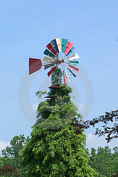 Colorful Windmill Royalty Free Stock Image - Image: 3456