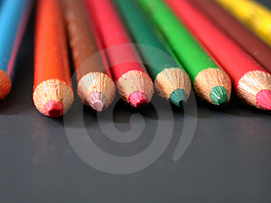 Colored Pencils, Dead On! Royalty Free Stock Photo - Image: 3565