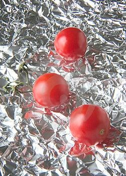 Tomates reflétées Images stock