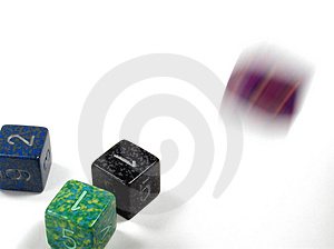 Rolling The Dice Stock Image - Image: 7161