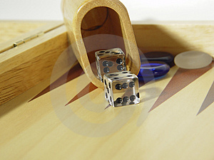 Backgammon Dice Royalty Free Stock Photos - Image: 7498