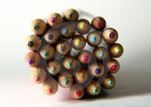 Matite Colorate 3 Fotografia Stock Libera da Diritti - Immagine: 7527