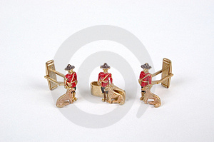 Antique Childs Cufflinks And Tie Tack Royalty Free Stock Photo - Image: 8185