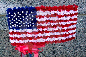 Old Glory In Floral Stock Image - Image: 8731