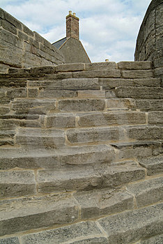 Ancient stone steps Royalty Free Stock Photos