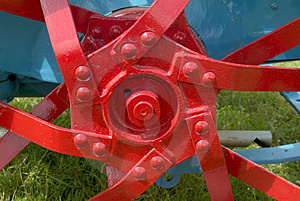 Hub of old tractor wheel Stock Image