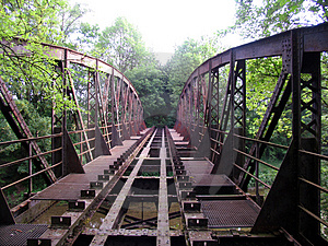 Abandoned bridge Stock Image