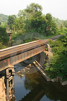 Train Bridge Stock Photography - Image: 9662