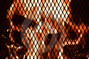 Backyard Fire Royalty Free Stock Image - Image: 9816