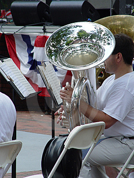 Tuba Player Royalty Free Stock Image - Image: 9826