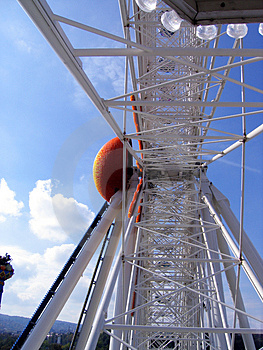 Inside giant wheel Stock Image