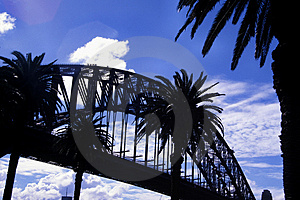Harbour Bridge Silhouette Royalty Free Stock Photos - Image: 11658