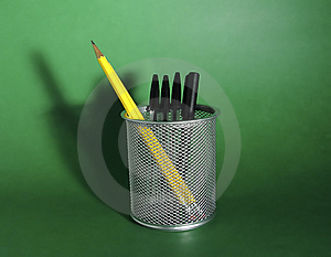 Pen And Pencil Holder Stock Images - Image: 11854