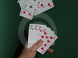 Hand With Cards I Royalty Free Stock Photos - Image: 11988