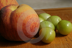 Peaches & Plums Stock Photography