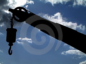 Αγκίστρι στο λιμάνι Στοκ εικόνα με δικαίωμα ελεύθερης χρήσης