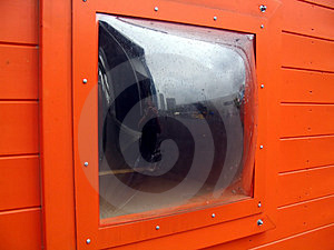 Fenster in der Orange Stockbilder