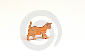 Wooden Cat Stock Image - Image: 12301