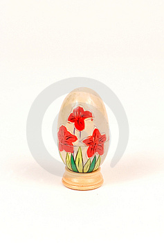 Decorated Wooden Egg Royalty Free Stock Photos - Image: 12538