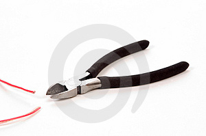 Side Cutters And Wire Royalty Free Stock Image - Image: 12666