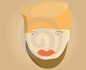 Illustration Of Man Face Royalty Free Stock Image - Image: 12786