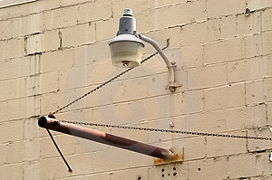 Industrial Light And Empty Sign Holder Stock Images - Image: 12824