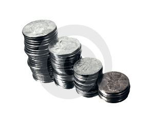 Stacked Change Royalty Free Stock Photography - Image: 12857