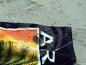 Beach Towel & Sunglasses Stock Photography - Image: 13282