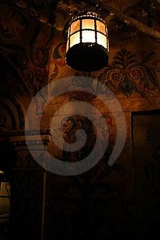 Luz en la catedral de Uspesky Foto de archivo