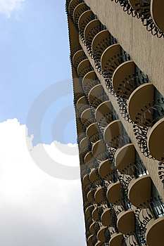 Multiple Balconies Royalty Free Stock Photo - Image: 13755