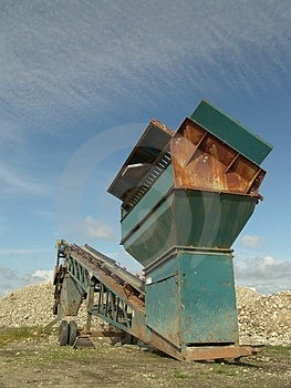 Quarry Screening Equipment Royalty Free Stock Images