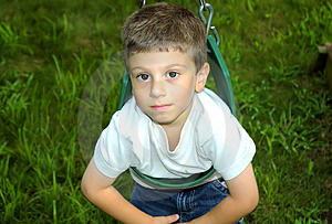 Child On Swing Stock Photos - Image: 14673
