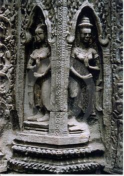 Statuen am Anker Wat Stockbild
