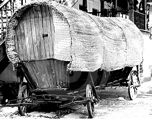 Old tilt gipsy cart Royalty Free Stock Photo