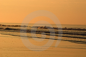 Ocean Waves At Sunrise Stock Images - Image: 15524