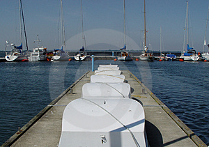 Pier In Yachting Club Royalty Free Stock Images - Image: 15529