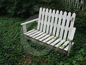 Picket bench Royalty Free Stock Image