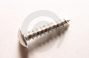 Isolated Screw Royalty Free Stock Photo