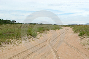 Dunes Roadway Stock Photo - Image: 16560