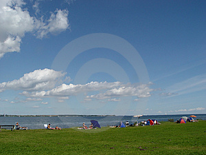 Beachlife At The Fjord Stock Photography - Image: 16832