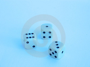 Dice In Blue Shine Stock Photo - Image: 17290