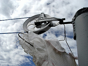 View Of Clothes Line Stock Photography - Image: 17512