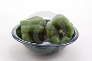 Green Bowl, Green Peppers Stock Image - Image: 19091