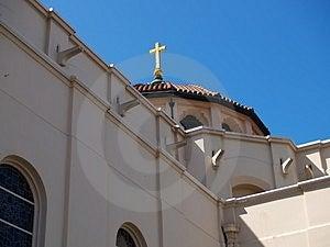 Купол и крест базилики Стоковое Изображение RF