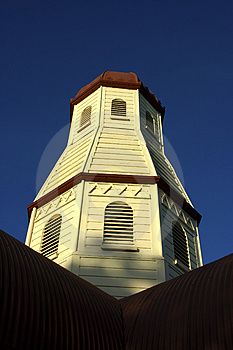 Cemetary Chapel Stock Photo