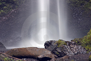 Waterfall spray. Royalty Free Stock Photo