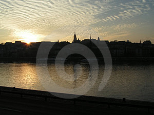 Budapest Skyline Stock Image