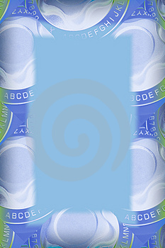 Blue And Green Label Maker Border Free Stock Images