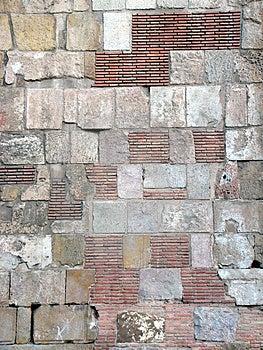 Pierre et mur de briques Photo stock